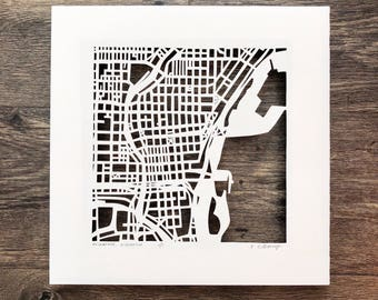 Milwaukee or Madison 10x10 Hand Cut Original