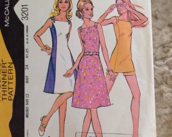McCall's 3201 Sun Dress or Tunic and Shorts - Size 12