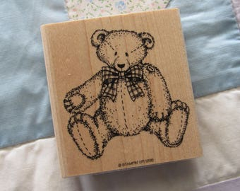 Stamp for Scrapbooking or Card Making- Teddy Bear- Unused Rubber Stamp