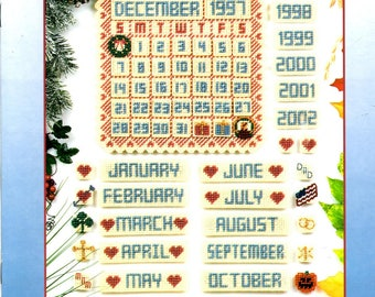 Country Holiday Calendar Months Years Dates Events Holidays Plastic Canvas Needlepoint Embroidery Craft Pattern Leaflet 181038