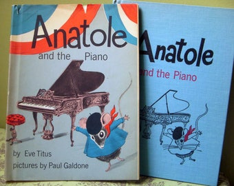Anatole and the Piano, Eve Titus, Paul Galdone Illustrations,  Rare Signed by the Author, First Edition, Dust Jacket 1966, Mouse Story Paris