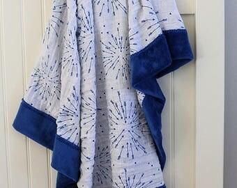 Royal blue minky blanket, minky blanket, infant blanket, baby blanket, baby shower gift, baby nursery blanket, photo prop blanket