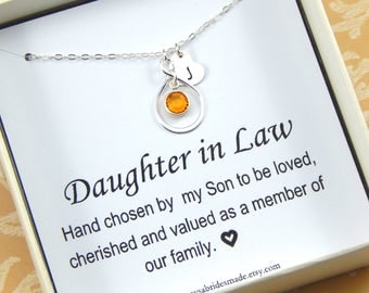 Daughter In Law Personalized Necklace,Gift for Daughter In Law,Daughter In Law Necklace,Daughter In Law Bithday
