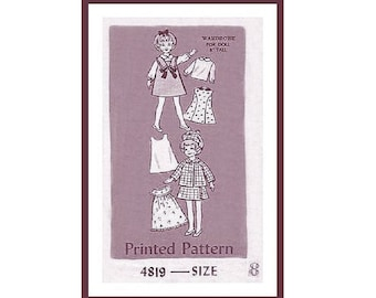 "PDF Vintage 8"" Doll Clothes Pattern to make for Penny Brite or 1970s Skinny Ginny"