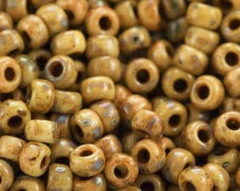 Miyuki Brown Picasso 8/0 Glass Seed Beads 100% Guarantee