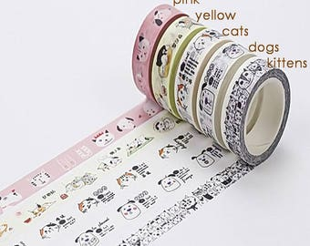 Cats & Dogs Washi Tape (SC-238)