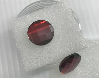 Swarovski 2035 14mm Crystal Red Magma Flat Back