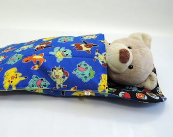 Pokemon Doll Sleeping Bag for BOYS  18 inch doll bedding