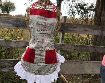 Red Christmas wonderland apron