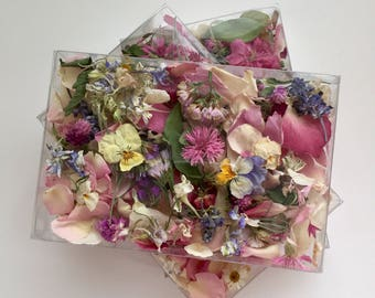 Dried Flowers, Wedding Confetti, Flower Petals, Wedding Favors, Dried Rose Petals, Flower Girl Basket, Real, Biodegradable, Centerpieces