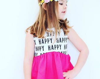CROPPED TOP-  Happy -  Toddler/Girls, crop top