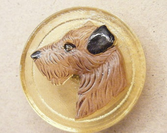 Dog button, glass button, animal button, large button, ANIMAL CHARITY DONATION