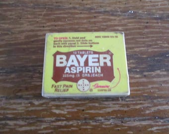 Bayer Aspirin Pill Box Plastic