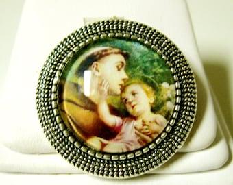 Saint Anthony pin/brooch - BR09-001