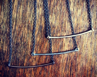 Contrast Arc Necklace - Small or Medium