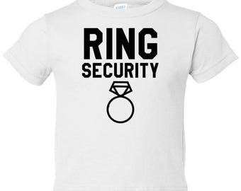 Ring Bearer T-Shirt - Ring Security Boys Toddler Tee (4 Colors)