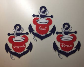 Disney Cruise Personalized Mickey Anchor Door Magnet