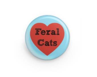 Feral Cat Love Button