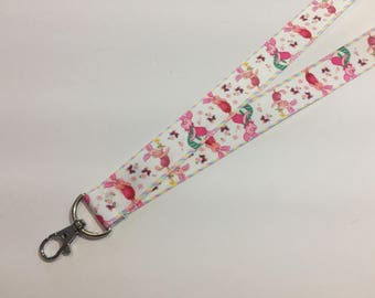 Pink Piglet from Winnie the Pooh ID Lanyard With Lobster Claw Clasp