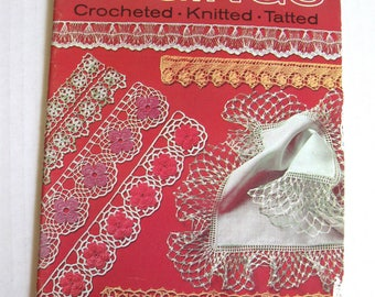 Edgings Crocheted-Knitted-Tatted - Coats & Clark's Book No. 121 - 1961