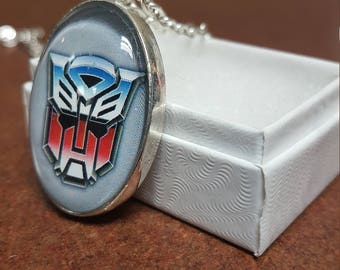 22x30mm oval Transformers autobot pendant necklace