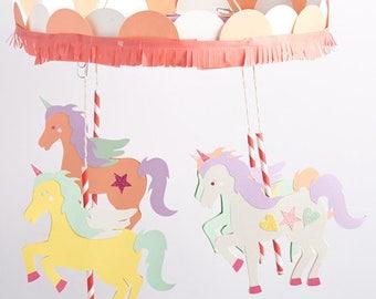Unicorn Gift Set - Unicorn Garland & Unicorn Note Card Set -