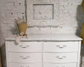 Painted Cottage Chic Shabby French Dresser DR909