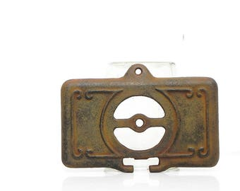 Vintage Antique Ornate Iron Pot Belly Potbelly Stove Ash Door Parts No. 18-22 Repurpose