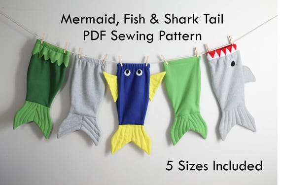 Mermaid tail shark tail fish tail whale tail blanket cocoon for Shark tail fish