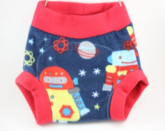 Space Robot Cover/ Fleece Shortie Soaker- Great Baby Shower Gift or Newborn Photo Prop
