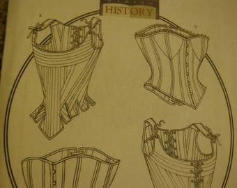 Corsets--Historical--Multiple sizes and Variations--UNCUT Pattern --Buyers Choice-- 40-70% off Patterns n Books SALE