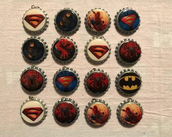 "Bottle caps ""Superheroes"""