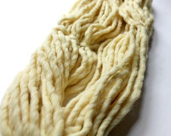 Soft Yellow Yarn, Super Bulky Yarn, Magical Yarrow Hand Dyed, Natural Plant Dye, Wool and Alpaca, Quick Knit, Naturally Dyed Yarn, Chunky