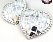 RTW Heart Shaped Disco Ball Pasties - Size M - SugarKitty Couture