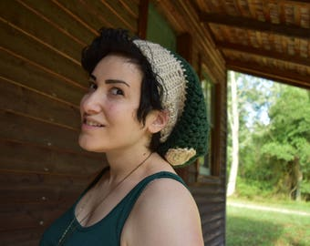 Slouchy Mushroom Toadstool Beanie - MADE TO ORDER - customizable colors - crochet hat - amanita muscaria