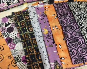Halloween Fabric Bundle/Halloween Fabrics/Fat Eighth Bundle/Fat Quarter Bundle/Quilting