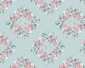 Fitted Crib Sheet, Toddler Bed Sheet, Girl, Blue, Pink, Coral, Floral, Shabby Chic
