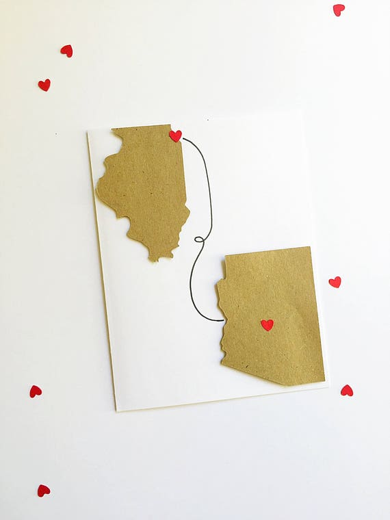 Long Distance Mom Gift. Mother's Day Card. Home Is Where My Mom Is. States Card. Long Distance Card. Mom Valentine. Love Knows No Distance