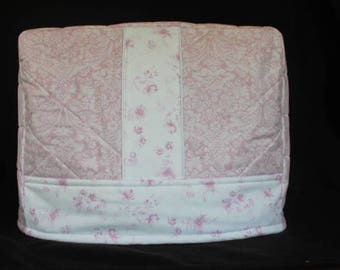 READY to SHIP--Lily) Sewing Machine Cover in Pink Shabby Chic Fabric