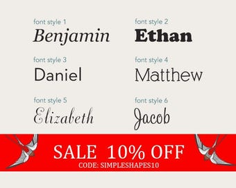 Summer Sale - Personalized Name Lettering Decal