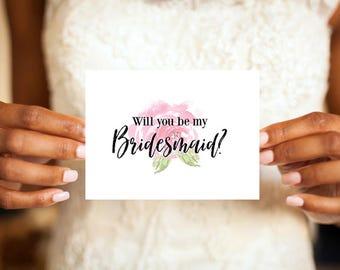 Bridesmaid Card / Will You Be My Bridesmaid / Bridesmaid Proposal / Ask Bridesmaid / Asking Bridesmaid / Bridesmaid Gift /  Maid of Honor