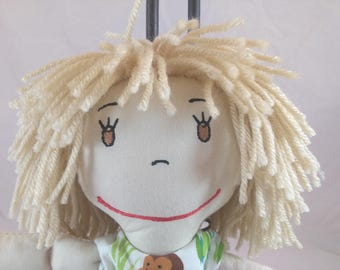 Cuddly Rag Doll, Embroidered Rag Doll, Removable Clothes,Rag Doll,Fabric Doll, Stuffed Doll,Plush Doll, Rag Dolls, Original Rag Doll