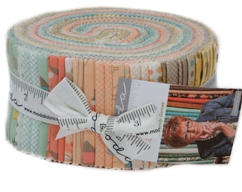 """Corner of 5th and Fun Jelly Roll by Sandy Gervais for Moda Fabrics 17900JR 40 2.5"""" x 42"""" Fabric Strips"""