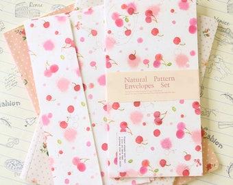 Cherries Natural Pattern Envelopes