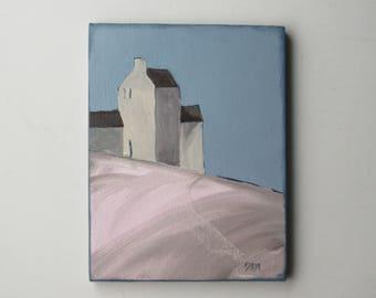 "original painting- ""House Mountain"" -  13"" x 11"" Original Acrylic on canvas"