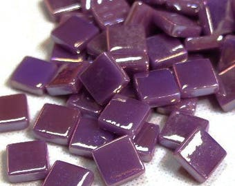 """12mm (1/2"""") Deep Purple Pearlized Recycled Glass Square  Mosaic Tiles//Mosaic Supplies//Craft Supplies"""
