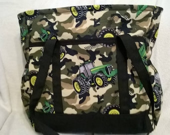 John Deere Camouflage Tote Bag, Diaper Bag, Carry-On Bag, Book Bag