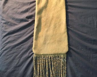 Native American made elkskin bag wth brass beads pipebag flutebag