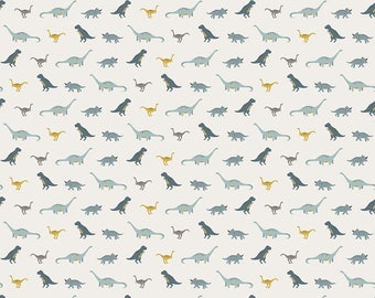 Fossil tiny Dino in Cream - by Riley Blake Designs  - you choose the cut