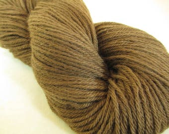 Walnut Natural-Dye Yarn -- Plant-Dyed Worsted Weight Wool - YAW101718 - 100 grams